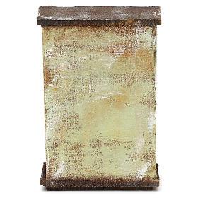 Cupboard with fabric rolls for 12 cm Nativity scene, 10x10x5 cm s4