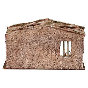 Stone shack in with straw for 10 cm Nativity scene, 20x30x15 cm s4