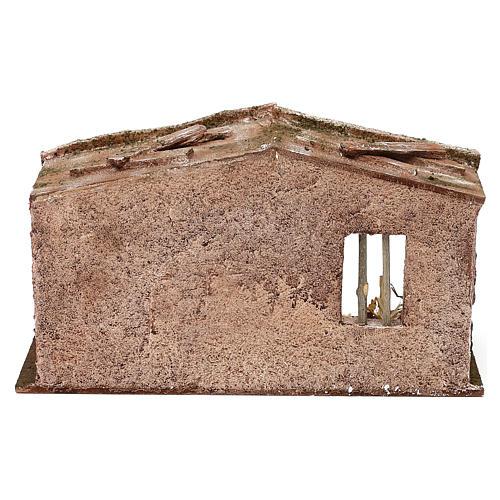 Cabaña mampostería con pajizo 20x30x15 cm para belén de 10 cm 4