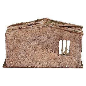 Capanna muratura con paglia 20x30x15 cm per presepe di 10 cm s4
