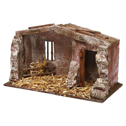 Capanna muratura con paglia 20x30x15 cm per presepe di 10 cm 2