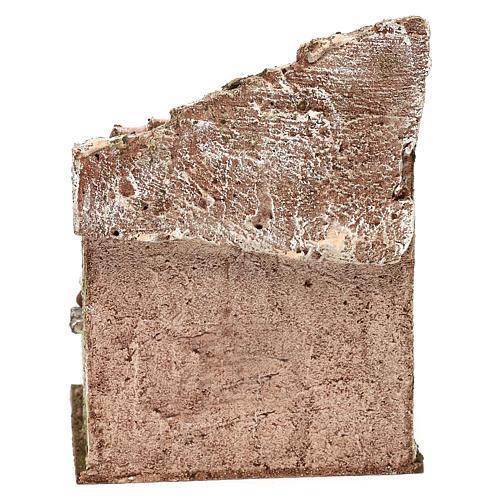 Capanna muratura con paglia 20x30x15 cm per presepe di 10 cm 8