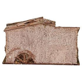 Capanna con fienile e paglia di 15x25x15 cm per presepi di 10 cm  s4