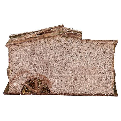 Capanna con fienile e paglia di 15x25x15 cm per presepi di 10 cm  4