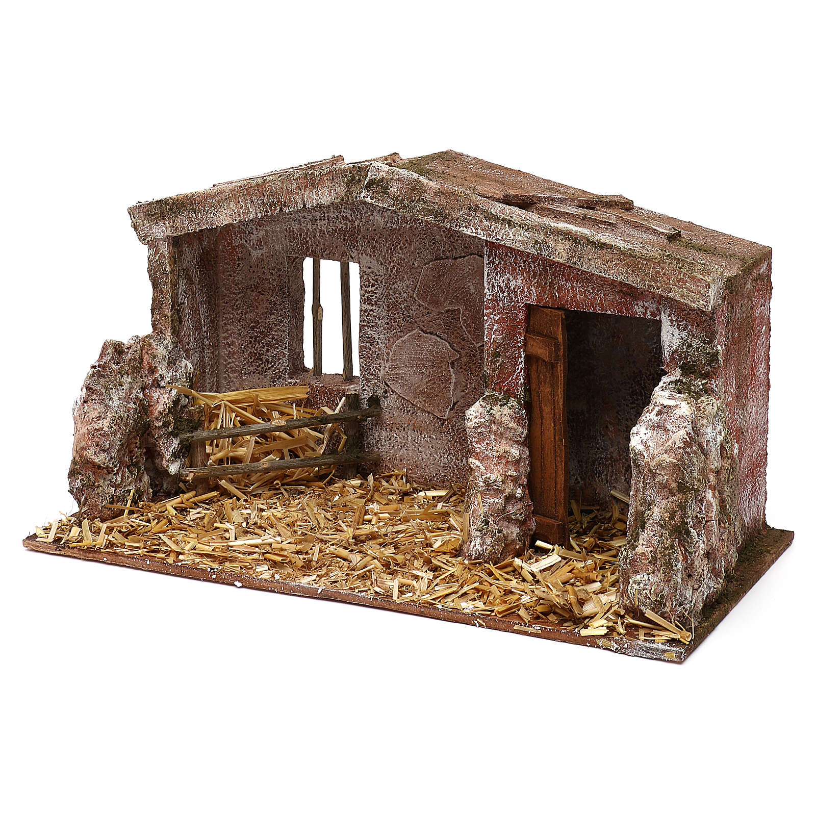 Shack with door for 12 cm Nativity scene, 20x35x20 cm 4