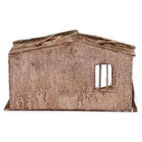 Shack with door for 12 cm Nativity scene, 20x35x20 cm s4