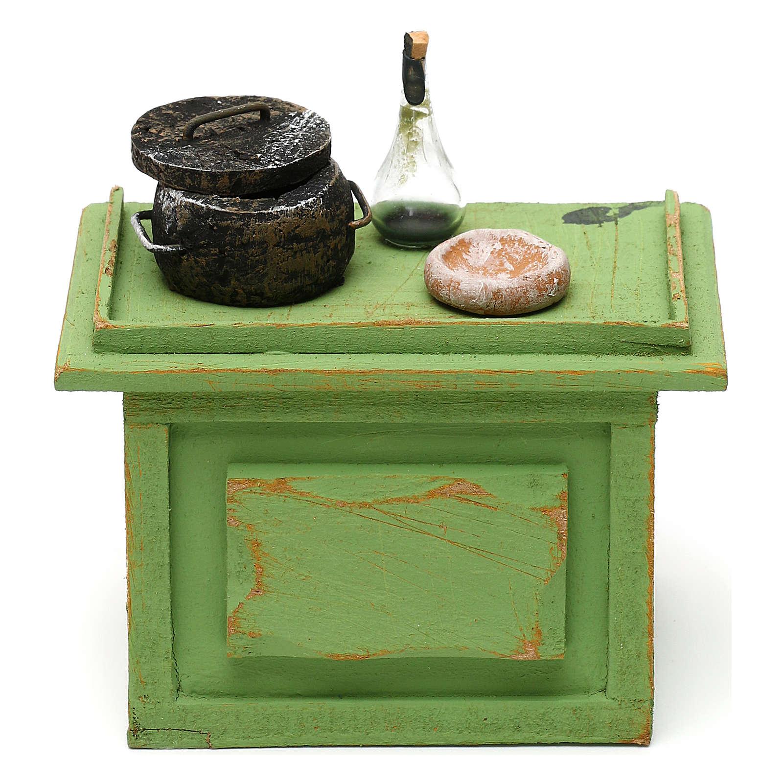 Mostrador tienda con accesorios de 10x10x5 cm para belén de 12 cm 4
