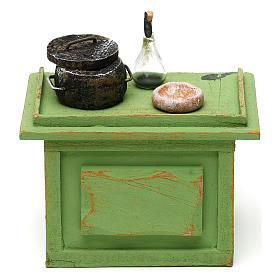 Mostrador tienda con accesorios de 10x10x5 cm para belén de 12 cm s1