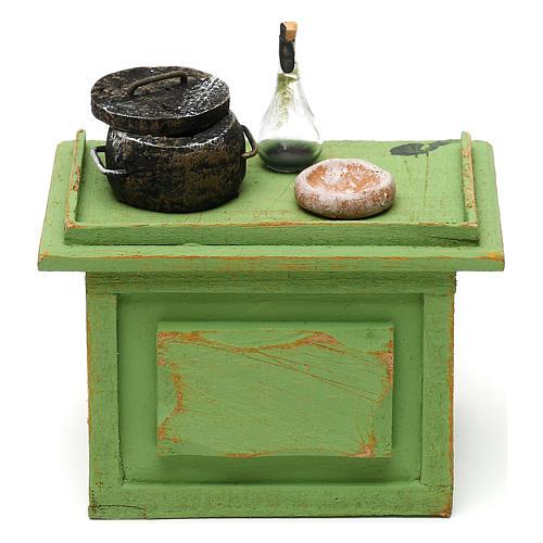 Mostrador tienda con accesorios de 10x10x5 cm para belén de 12 cm 1