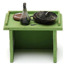 Mostrador verde tienda con accesorios 10x10x5 cm para belenes de 10 cm s4