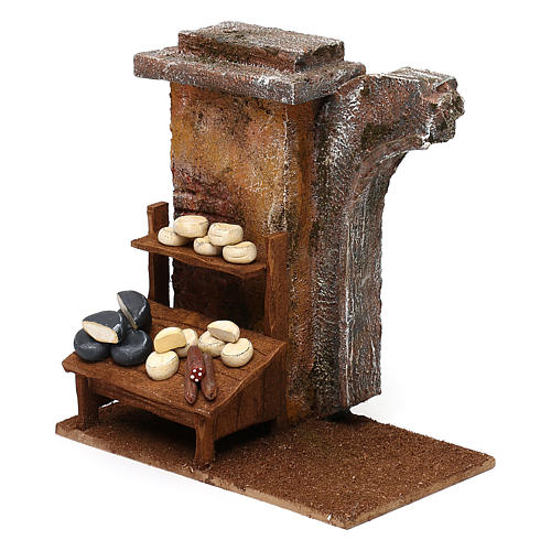 Cheese seller setting for 12 cm Nativity scene, 20x25x10 cm 2