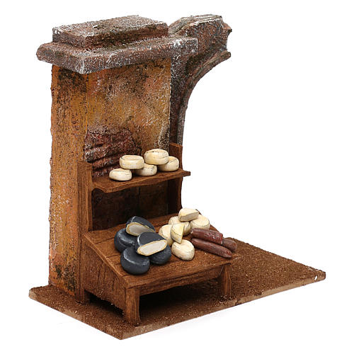 Cheese seller setting for 12 cm Nativity scene, 20x25x10 cm 3