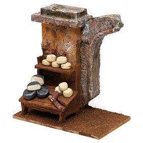 Cheese seller setting for 10 cm Nativity scene, 15x15x10 cm s2