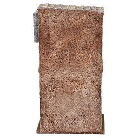 Casita mampostería con balcón y establo 25x15x10 cm belenes 10 cm s4
