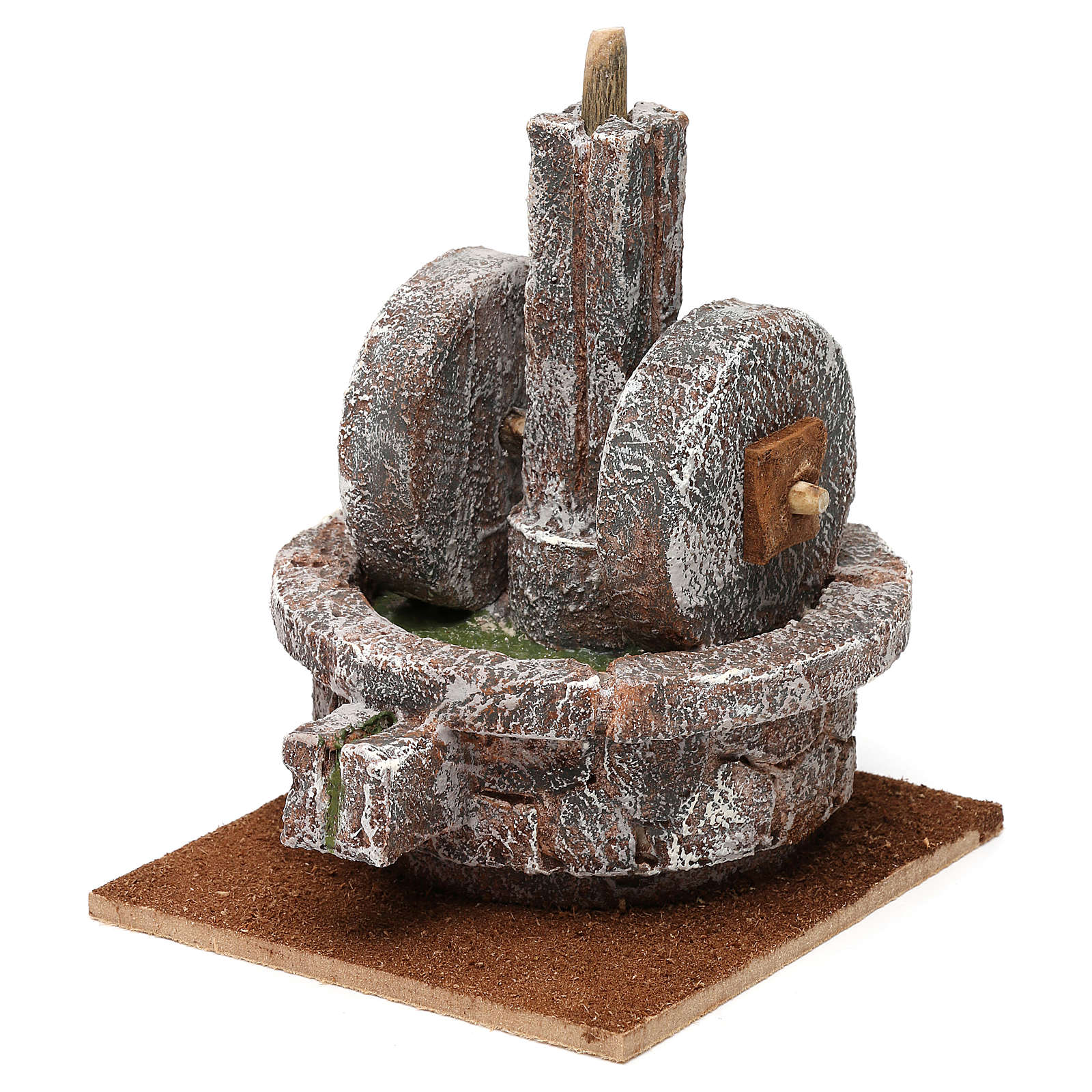 Millstone for 10 cm Nativity scene, 15x10x10 cm 4