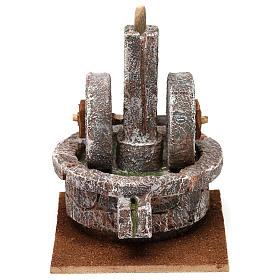 Millstone for 10 cm Nativity scene, 15x10x10 cm s1