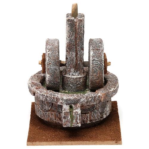 Millstone for 10 cm Nativity scene, 15x10x10 cm 1