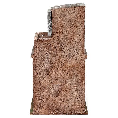 Casita con establo y terraza 25x15x10 cm para belenes de 10 cm 4