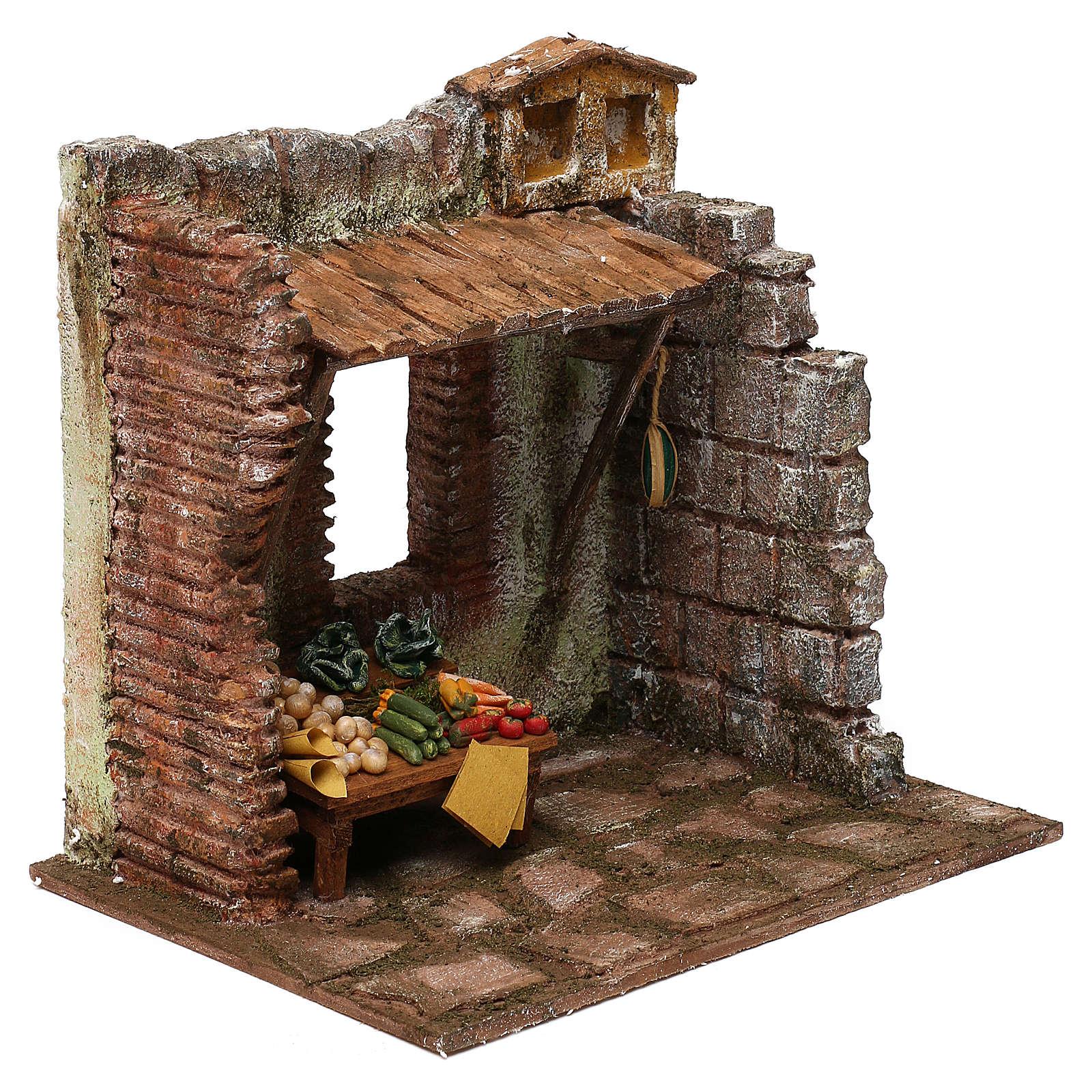 Greengrocer setting for 10 cm Nativity scene, 20x25x20 cm 4