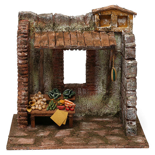 Greengrocer setting for 10 cm Nativity scene, 20x25x20 cm 1