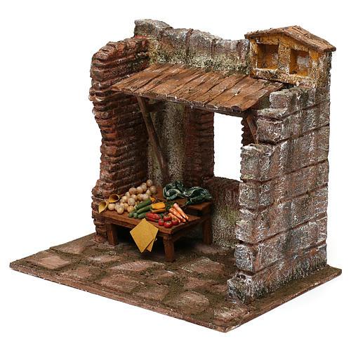 Greengrocer setting for 10 cm Nativity scene, 20x25x20 cm 2