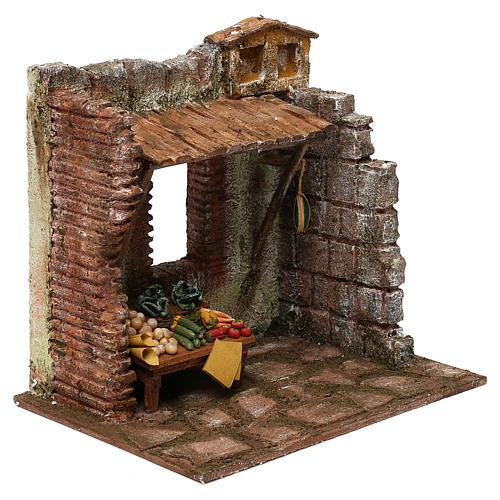 Greengrocer setting for 10 cm Nativity scene, 20x25x20 cm 3