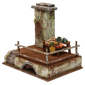 Setting with stall for 12 cm Nativity scene, 20x25x20 cm s2