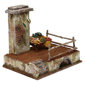 Setting with stall for 12 cm Nativity scene, 20x25x20 cm s3