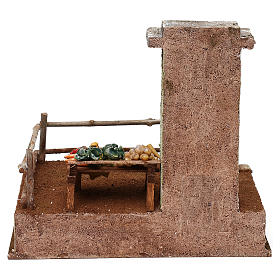 Setting with stall for 12 cm Nativity scene, 20x25x20 cm s4