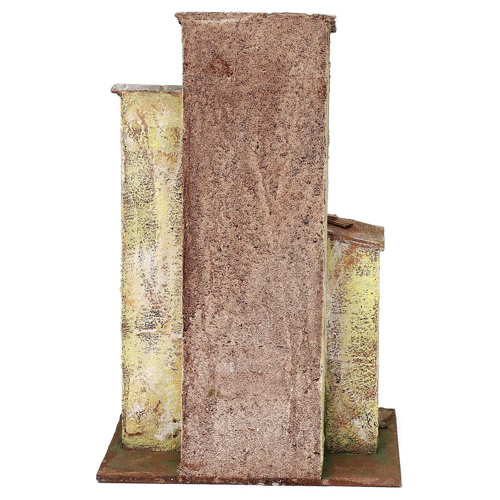 Casita con 3 pisos de 30x20x15 cm para belén de 10 cm 4