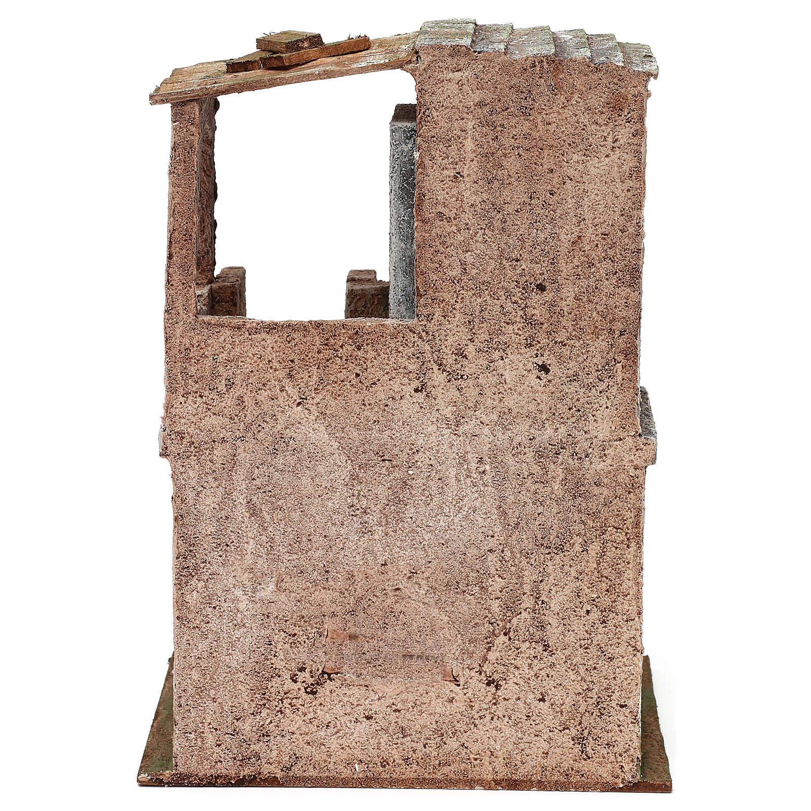 Casita con 2 pisos comunicantes de 30x20x15 cm para belén 10 cm 4