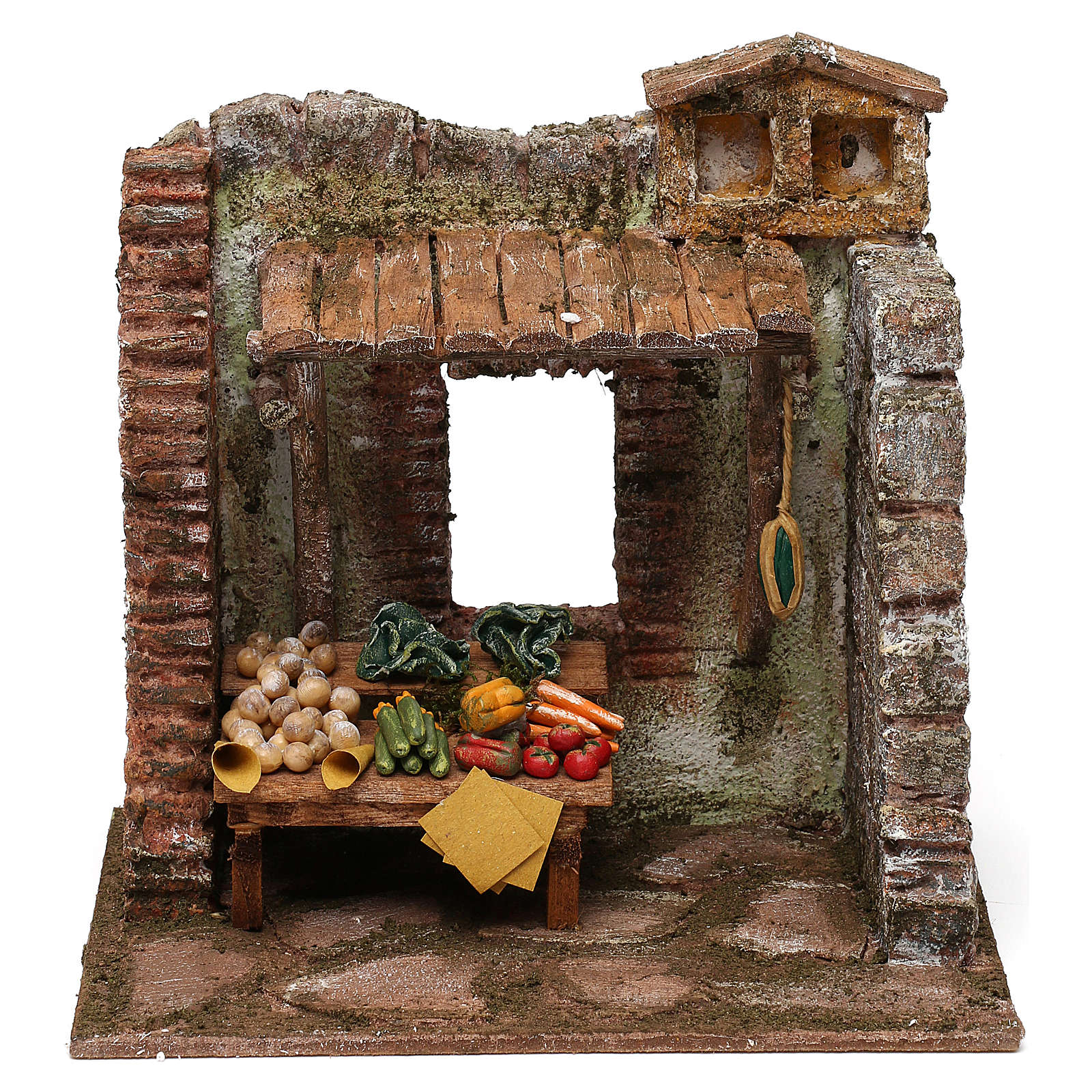 Greengrocer setting for 10 cm Nativity scene, 20x20x15 cm 4