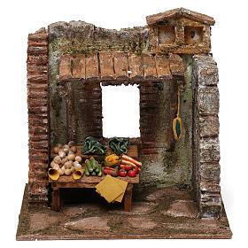 Greengrocer setting for 10 cm Nativity scene, 20x20x15 cm s1