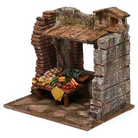 Greengrocer setting for 10 cm Nativity scene, 20x20x15 cm s2