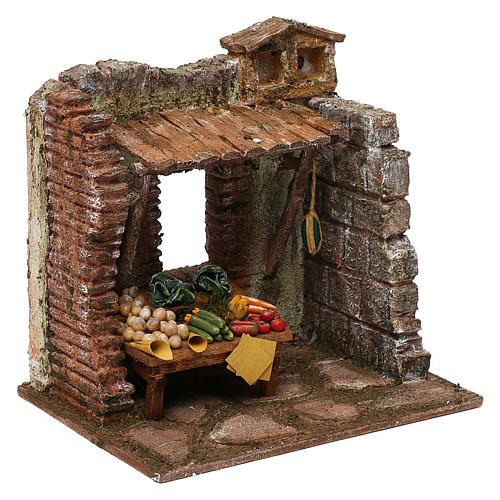 Greengrocer setting for 10 cm Nativity scene, 20x20x15 cm 3