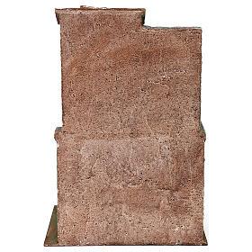 Casetta con scale e grotta di 35x25x15 cm per presepe di 10 cm s4