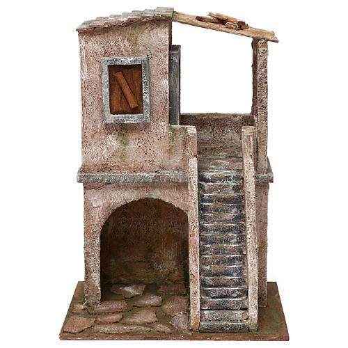 Two-floor house for 12 cm Nativity scene, 34x25x18 cm 1