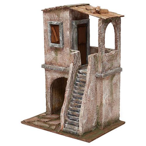 Two-floor house for 12 cm Nativity scene, 34x25x18 cm 2
