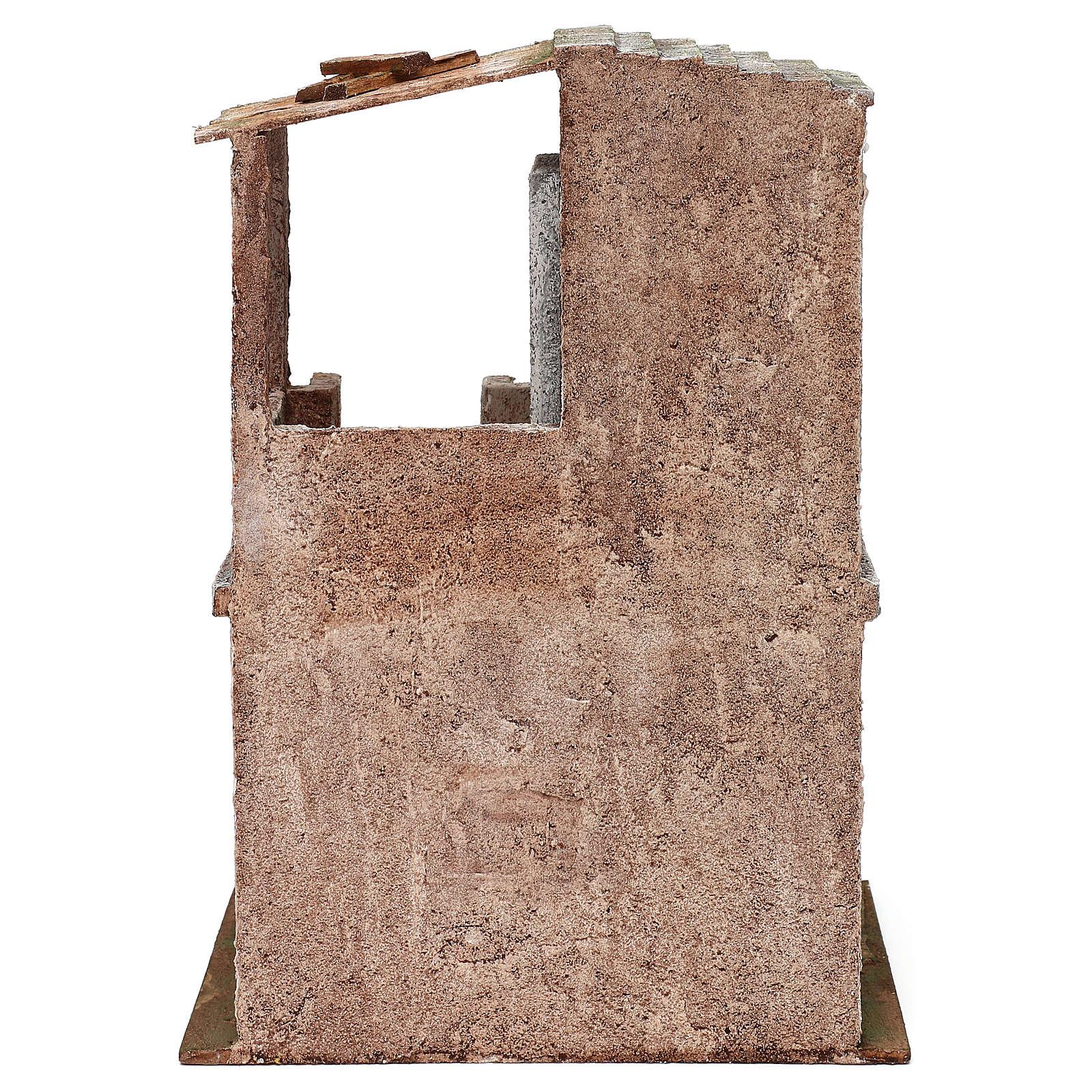 Casita con 2 pisos comunicantes de 34x25x18 cm belén 12 cm 4