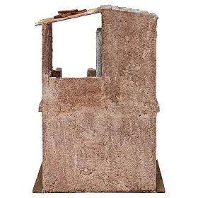 Casetta disposta su 2 piani comunicanti di 34x25x18 cm presepe 12 cm s4