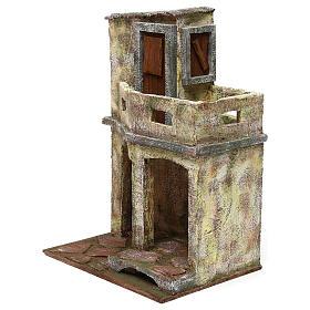Ambientazione con capanna e balcone di 35x25x20 cm presepe di 12 cm s2