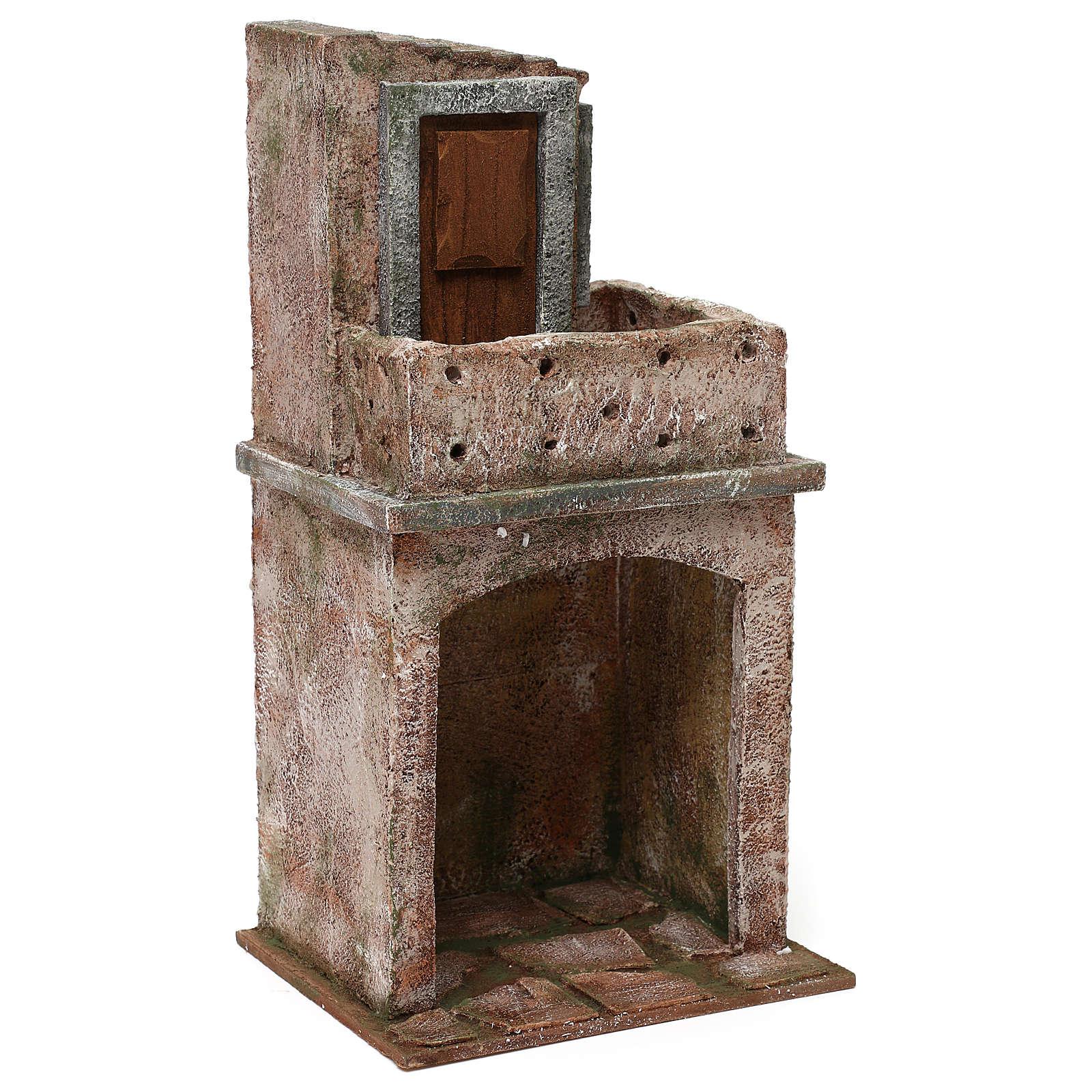 Bloque de viviendas con dos niveles de 35x20x15 cm para belenes 12 cm 4