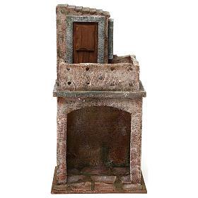 Caseggiato disposto su due livelli di 35x20x15 cm per presepi 12 cm s1