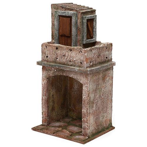 Caseggiato disposto su due livelli di 35x20x15 cm per presepi 12 cm 2