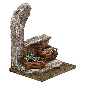 Half-arch with vegetables for 12 cm Nativity scene, 15x10x10 cm s3