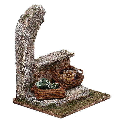Half-arch with vegetables for 12 cm Nativity scene, 15x10x10 cm 3