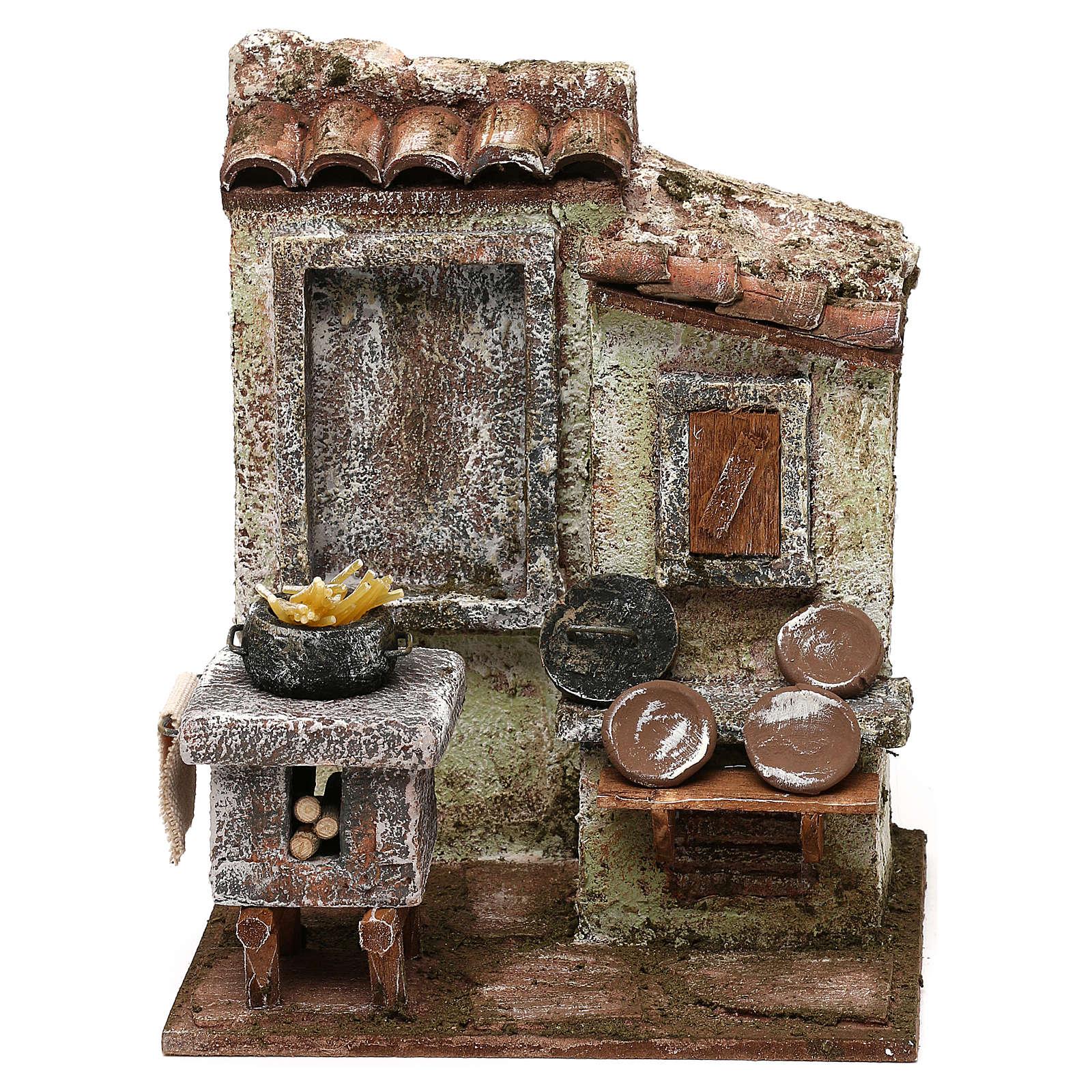 Macaronier's room 20x15x10 cm for Nativity scene 12 cm 4