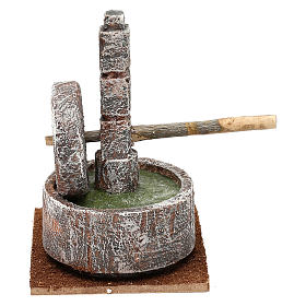 Millstone for 10 cm Nativity scene, 15x20x10 cm s4