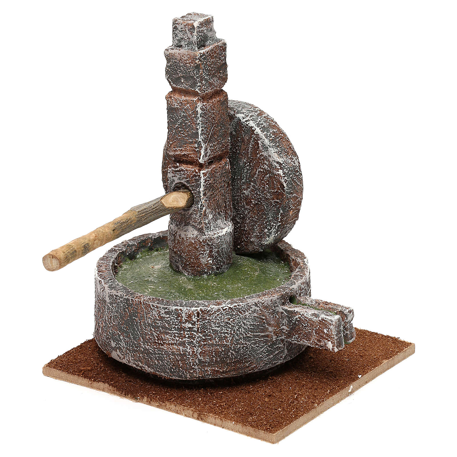 Animal millstone for 12 cm Nativity scene, 15x10x10 cm 4