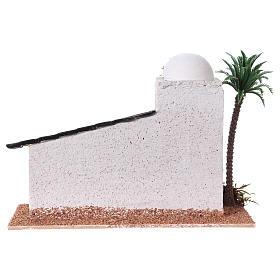 Casita estilo árabe madera belén 5 cm 15x20x10 cm  s4